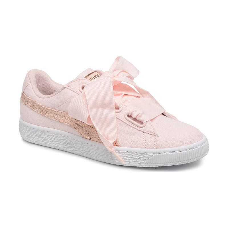 Puma Basket White Rose Heart Sneakers Gold Odxerbc Canvas O8nPwk0