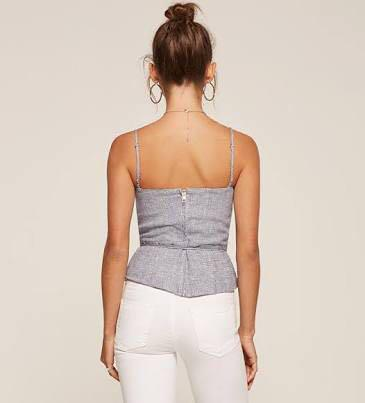 FREE SHIPPING Reformation 'Clayten' Corset Top