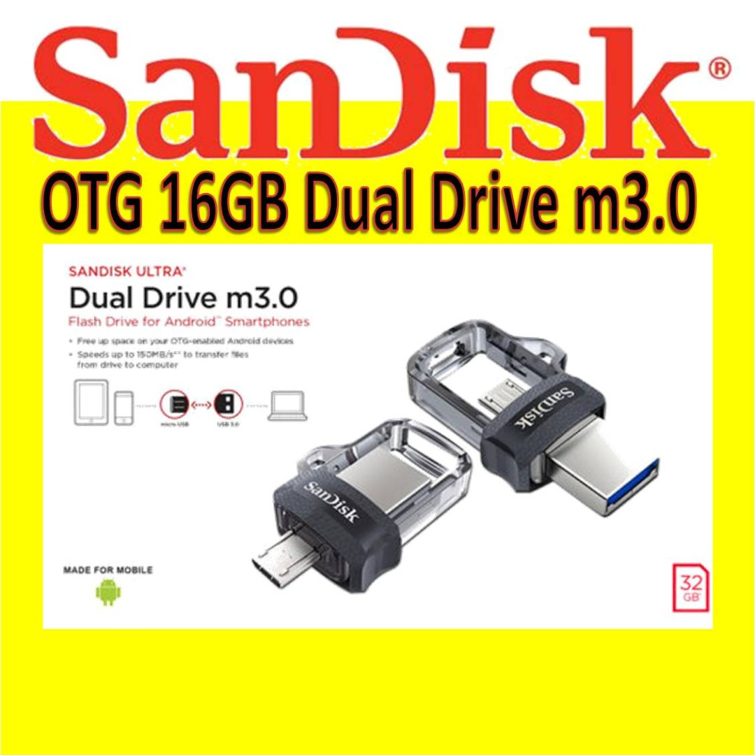 Sandisk Otg 16gb Dual Drive M30 Electronics Others On Carousell M3