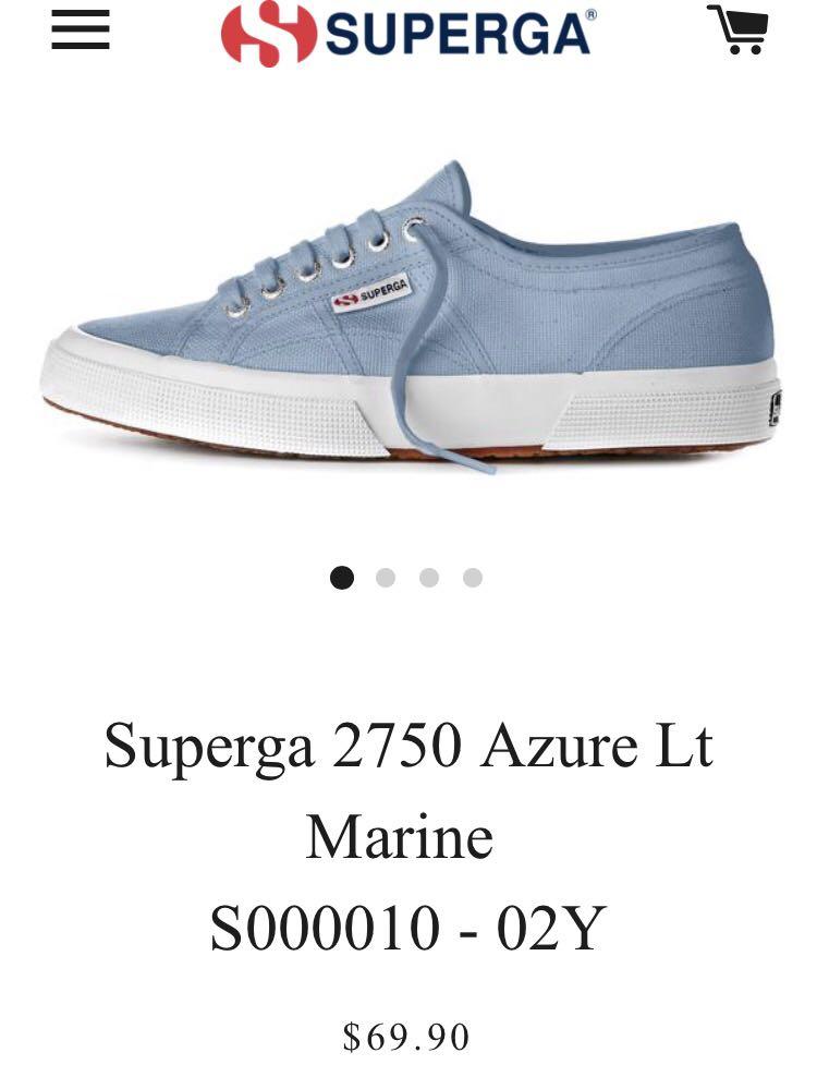 Superga 2750 Azure Lt Marine Size 41