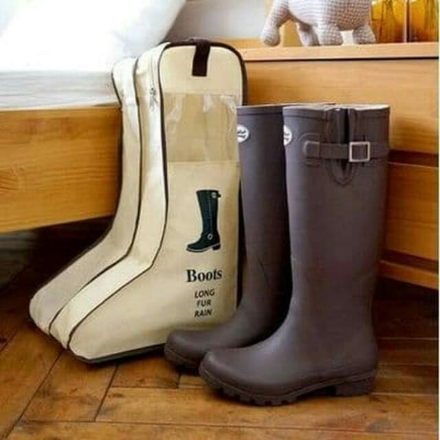 Tas sepatu boots panjang ukuran betis