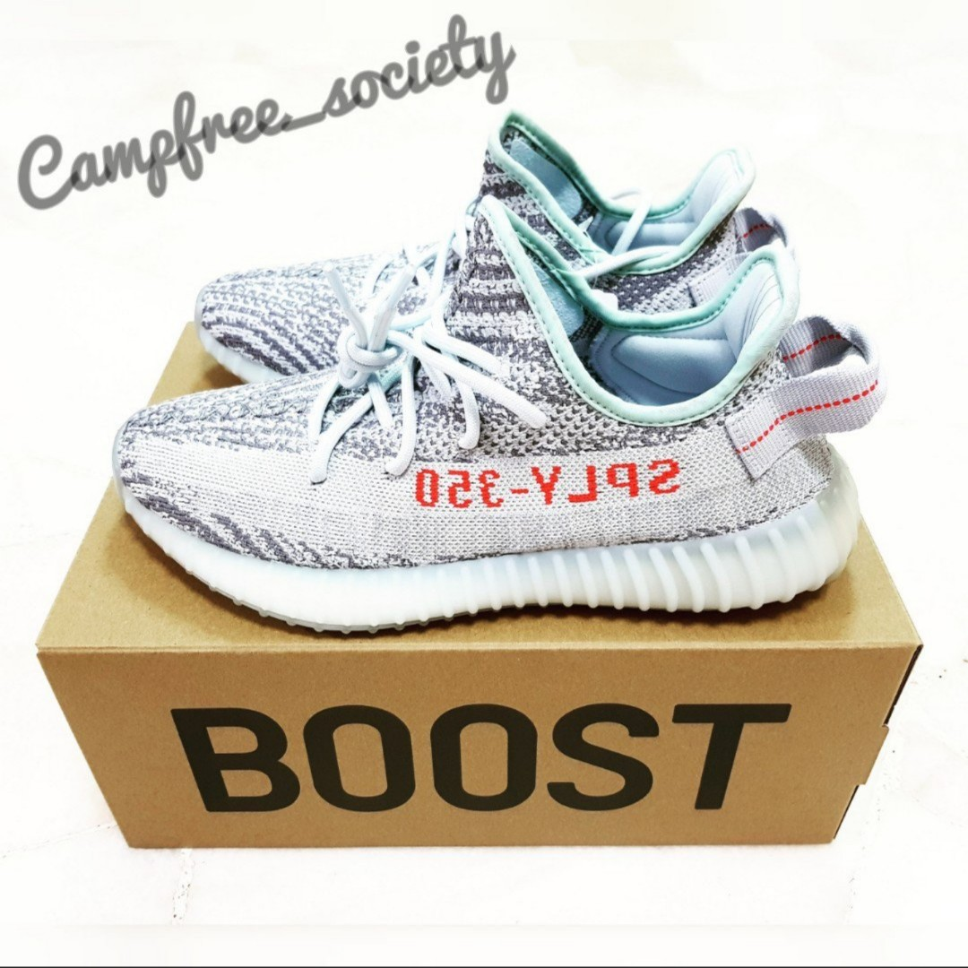df5fd966d4b3f UK 7.5 - Adidas Yeezy Boost 350 v2 Blue Tint