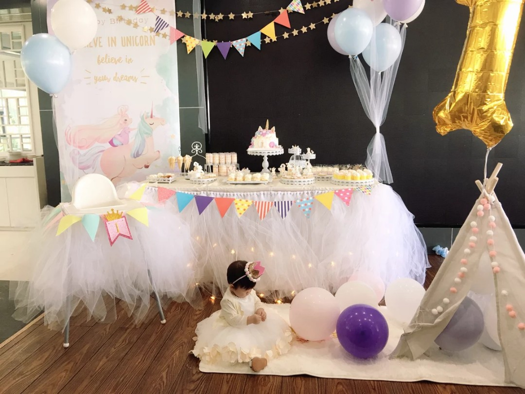 Unicorn Theme Birthday Party Setup Event Design Craft Others On