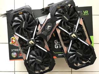 Extreme one sold/Gigabyte GTX 1080Ti Aorus Extreme Edition & Aorus SLI