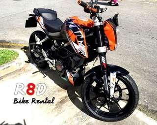 KTM Duke bike rental