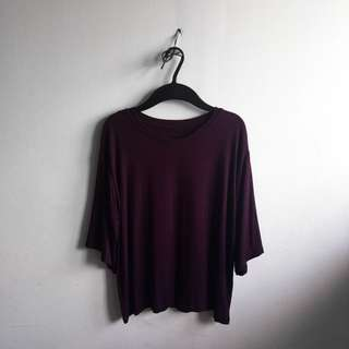[FrSz] Oversized Plum Shirt
