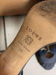 LOEWE 綁繩高跟鞋 39號