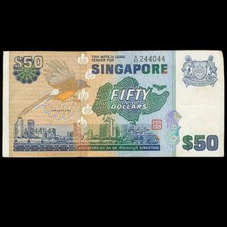 $50 Bird Series - Singapore - Used - A82