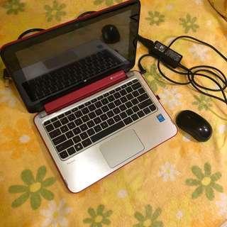 HP 手提平板電腦筆電 配無線滑鼠 原廠充電 手提袋