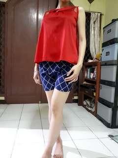 Atasan / blouse merah