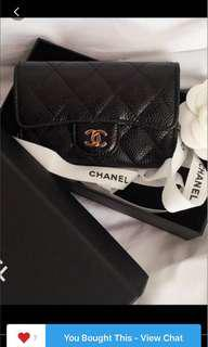 Authentic chanel card. Holder.  Almost new. All In reciet. Box.  Paper bag.