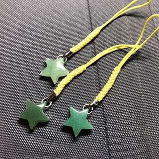 天然水晶,東陵玉,星星吊墜,水晶