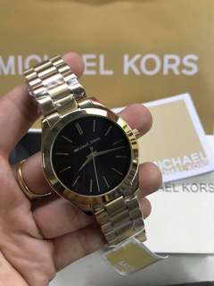 MK GOLD SLIM RUNWAY AUTHENTIC WATCH