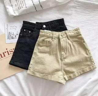 🚚 [現貨]高腰捲邊牛仔褲(2color)