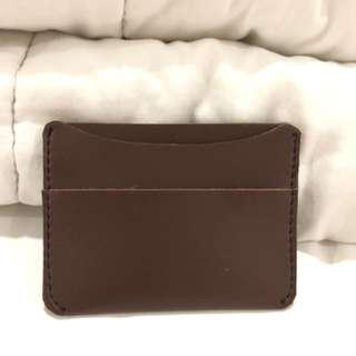 CARD HOLDER BROWN LEATHER