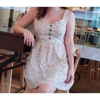 Vintage pastel lace dress