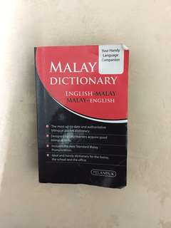 Malay Dictionary (English-malay, malay-english)