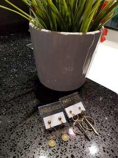 全新日本PARIS KIDS耳夹式耳环
