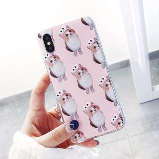 [OOS] (PO) Kitty Cat Wears Pink Elmo Hairband iPhone Casing