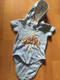 0-6 months romper with hooded