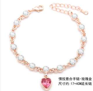 Bracelet 情投意合玫瑰金色手鏈