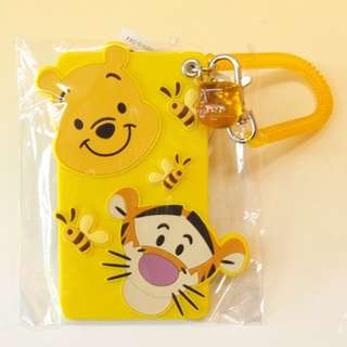 [A1] (2) Last Piece Japan Tokyo Disney Resort Disneyland Disneysea Winnie the Pooh Tigger Reel Pass Card Case honey