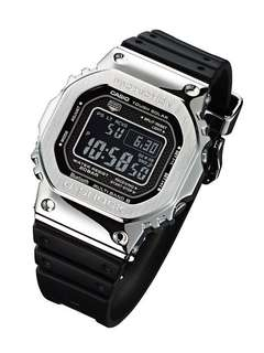 100% Authentic New Casio G-Shock resin full metal Silver GMW-B5000-1 Watch full set. Made in Japan