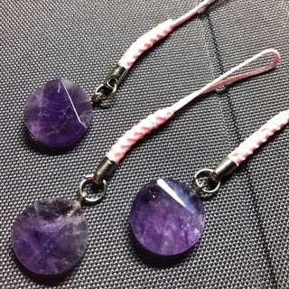 天然水晶,紫晶大衛星吊墜,水晶,大衛星
