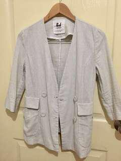 Korean Cropped-Sleeved Blazer