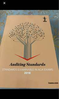 ICAEW Auditing Standards 2018 (Audit and Assurance)