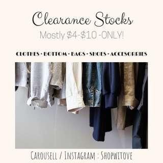 Clearance Stocks!