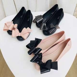 正品✨Melissa 蝴蝶結平底女鞋🎀