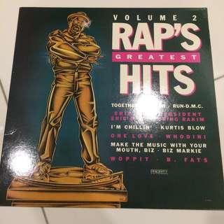 Rap greatest hits volume 2 lp