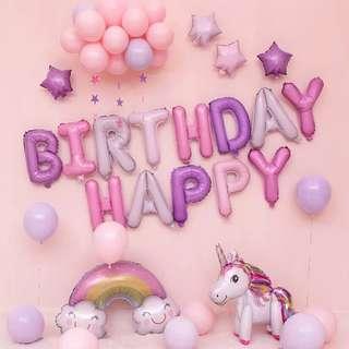 🚚 Unicorn Happy Birthday Party Set