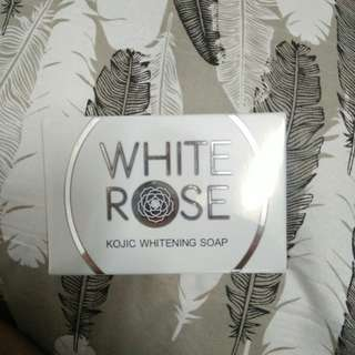FREE🚨 for the FIRST buyer of 200 worth of items - White Rose Kojic Whitening Soap