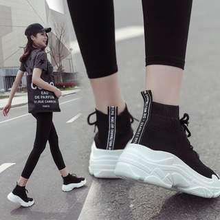 0718韓版彈力襪厚底透氣運動休閒鞋