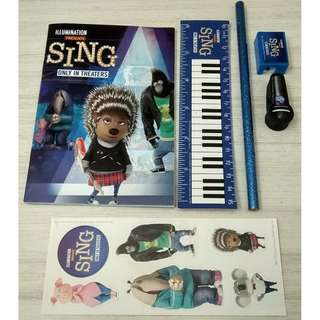 SING MOVIE: STATIONERY SET x 1
