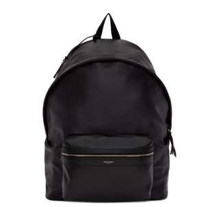 Saint Laurent Black Leather Giant City Backpack