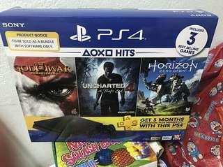PS4 SLIM 500GB BUNDLE HITS V2 ( NEW )