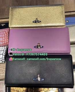 (英國代購2星期) 折扣貨 2017春夏 Vivienne Westwood NAPPA 小羊皮 長銀包 錢包 (保証正貨及全新) 3色