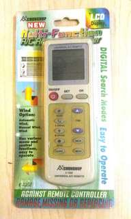 BNIB Universal Air Conditioner AC Remote Controller with LCD K100E