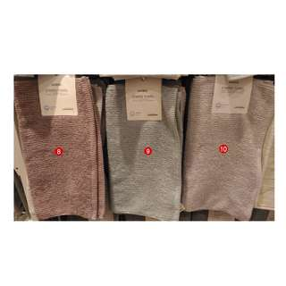 Japan Quality Miniso - Handuk Polos Tekstur Garis Stripes Towel Import