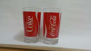Old soft drink glass