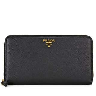 (Pre order) Prada Saffiano Leather Zip Around Long Wallet