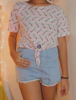 MATCHES SHIRT CROPPED