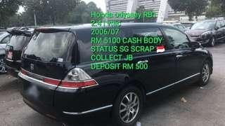 Honda odyssey RB1 2.4 i vtec 2006/07 RM 5100 CASH BODY STATUS SG SCRAP 🇸🇬 COLLECT JB DEPOSIT RM 500
