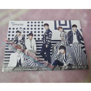 [CRAZY DEAL 90% OFF FROM ORIGINAL PRICE][READY STOCK]INFINITE JAPAN OFFICIAL POSTCARD 1PC; ORIGINAL FR JAPAN (PRICE NOT INCLUDE POSTAGE); POSLAJU:PENINSULAR AREA :RM10/SABAH SARAWAK AREA: RM15
