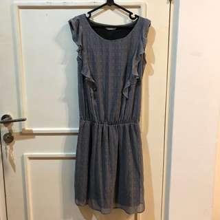 PROMOD checked grey dress