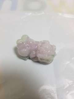 貔貅 - 紫罗兰底糯冰种翡翠(纯天然A货)