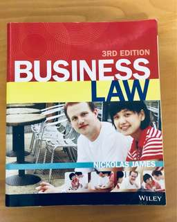 Business Law by Nickolas James (3rd Edition)
